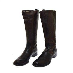 Alberto Fermani Tall Brown & Black Leather Women's Boots 39 US 9 Storm